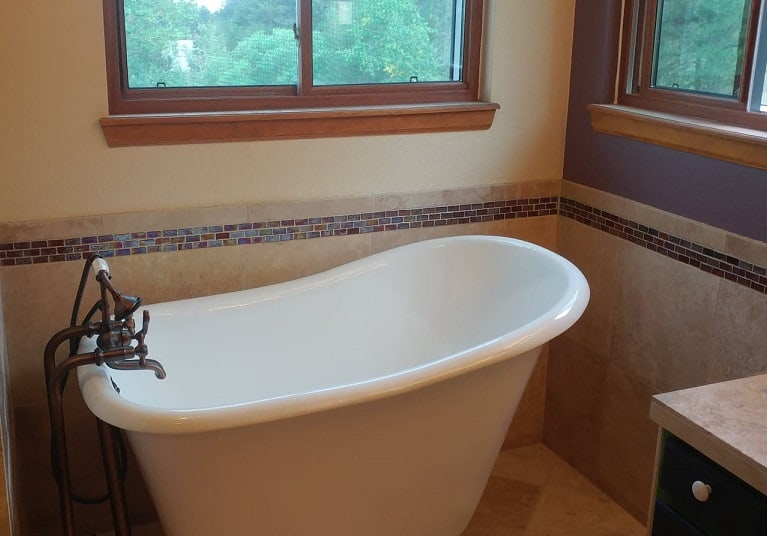 Bathroom Remodel Clawfoot Tub Install/Tile Work, Aurora, CO